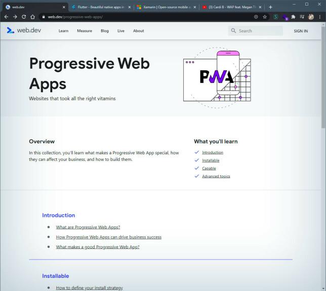 WPA - når du vil lage en app uten å lage en app.