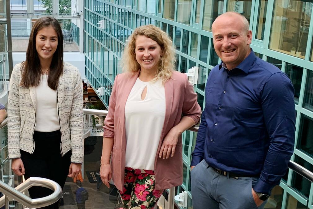 Marianne Melhoos, Joanna Matyjas og Joachim Bjerke er nye .NET-utviklere hos Webstep i Oslo. 📸: Webstep