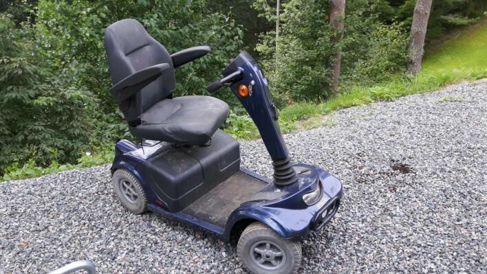 Fra denne elscooter-saken tok han drivverket som olabilen hans baserer seg på. 📸: Privat