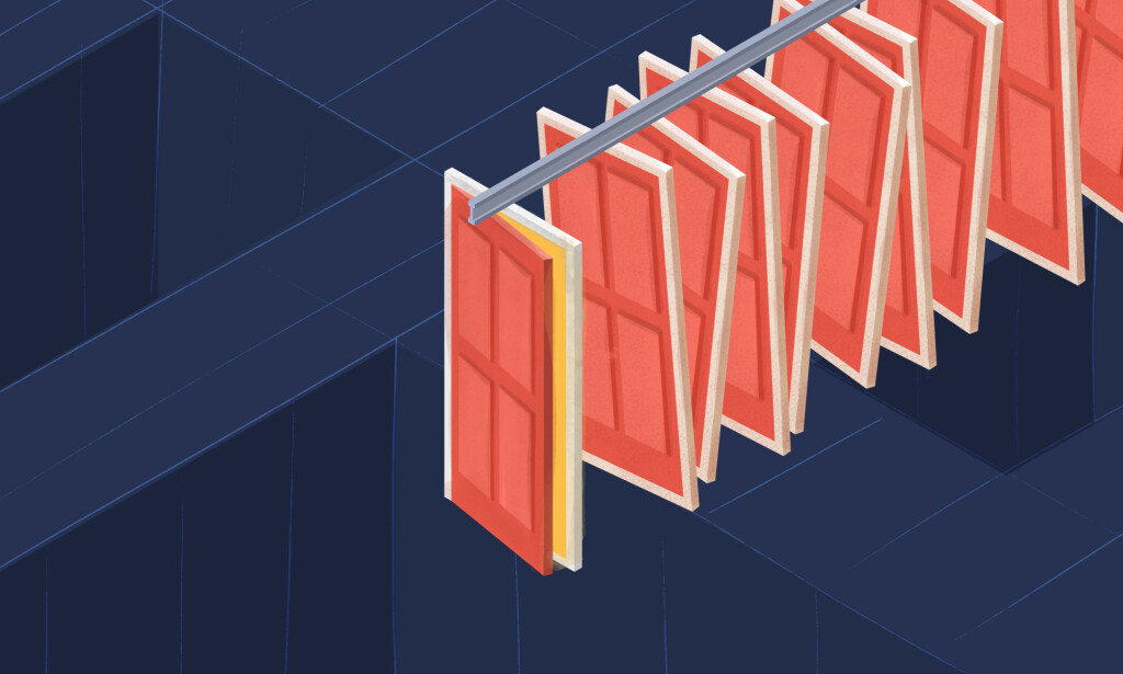 Illustrasjon av falske dører. 📸: Tobias Wulvik