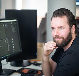 Konsulent Ole Tobiesen var den første utvikleren i Bouvets satsing på AR- og VR i 2016. Han trekker frem at kunnskap om Unity og 3D Studio Max har hjulpet han i jobbet. 📸: Kay Tomas Fagervik Bertheussen / Bouvet