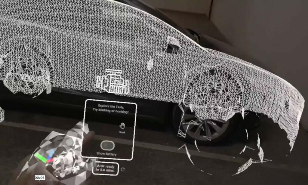 Først blir en 3d-mesh av bilen generert. 📸: LinkedIn