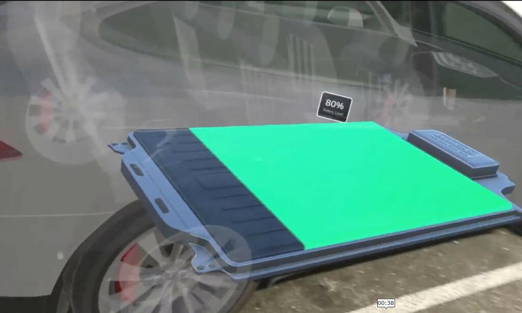 Man kan også bevege seg rundt bilen. 📸: Linkedin