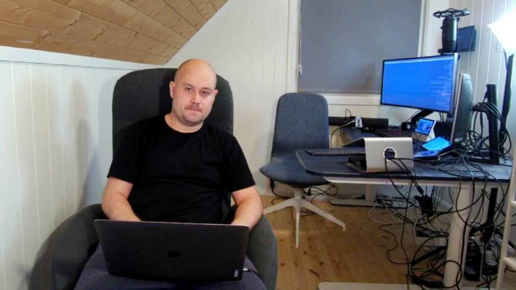 - Bilde tatt med Neat Bar videokonferanse-produktet vi jobber med, forteller Stian Stryni, i nettopp Neat. 📸: Privat