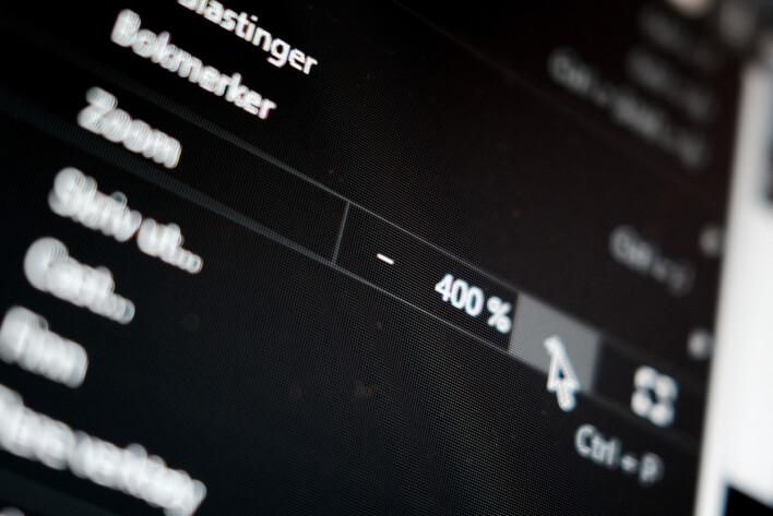 Zoom inn 400 prosent i nettleseren for å se om du følger WCAG-krava. 📸: Ole Petter Baugerød Stokke
