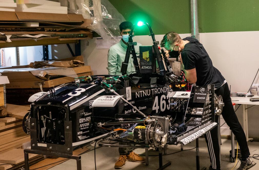 Den selvkjørende bilen atmos i aksjon i Trondheim. 📸: Revolve.