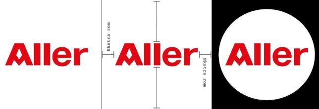 Illustrasjon: Plasser logoen i et kvadratisk bilde med litt plass i ytterkantene. I bildet til venstre ser du hvordan den blir seende ut i filen, i midten hvordan det er lagt inn litt rom, og til høyre hvordan eksemplet blir når vi lister det ut på sidene