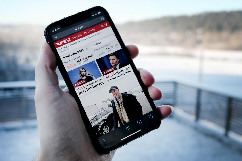 VG.no er Norges største nettavis, med en hel haug forskjellige teknologier. Men selve forsida tegnes fortsatt med PHP. 📸: Ole Petter Baugerød Stokke