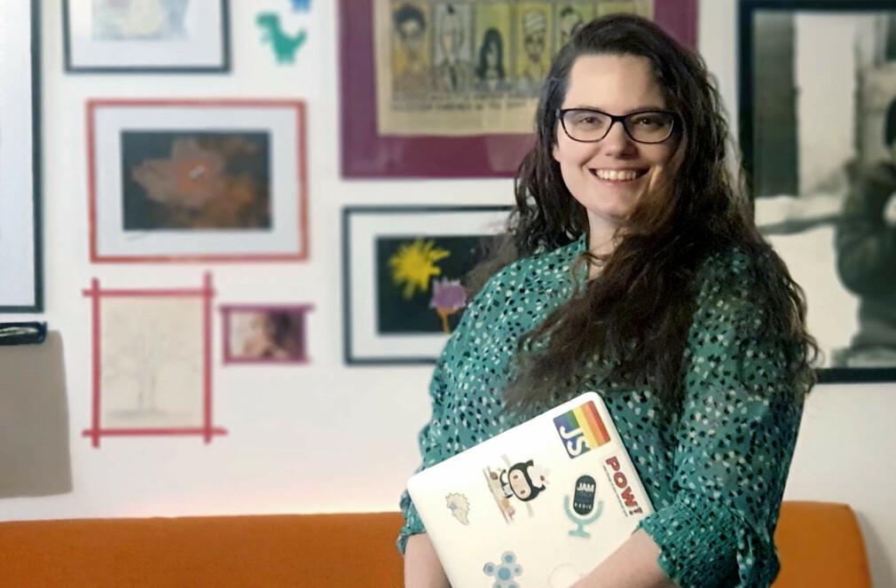 - Lilly Labs består av meg (seniorutvikler og mamma), Ola (juniorutvikler og pappa) og Lillian (vår ikke-lenger-så-lille intern på 6 år), forklarer Benedicte Raae. 📸: Privat