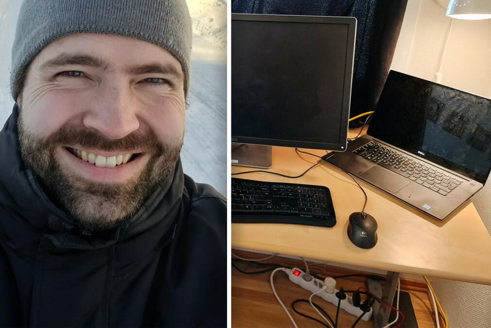Are Espelid Wold jobber som seniorutvikler i TietoEVRY, fra hjemmekontoret i Molde. 📸: Privat