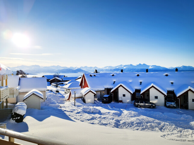 Are Espelid Wold har gode muligheter for fine vinterturer der han bor i Molde. 📸: Privat