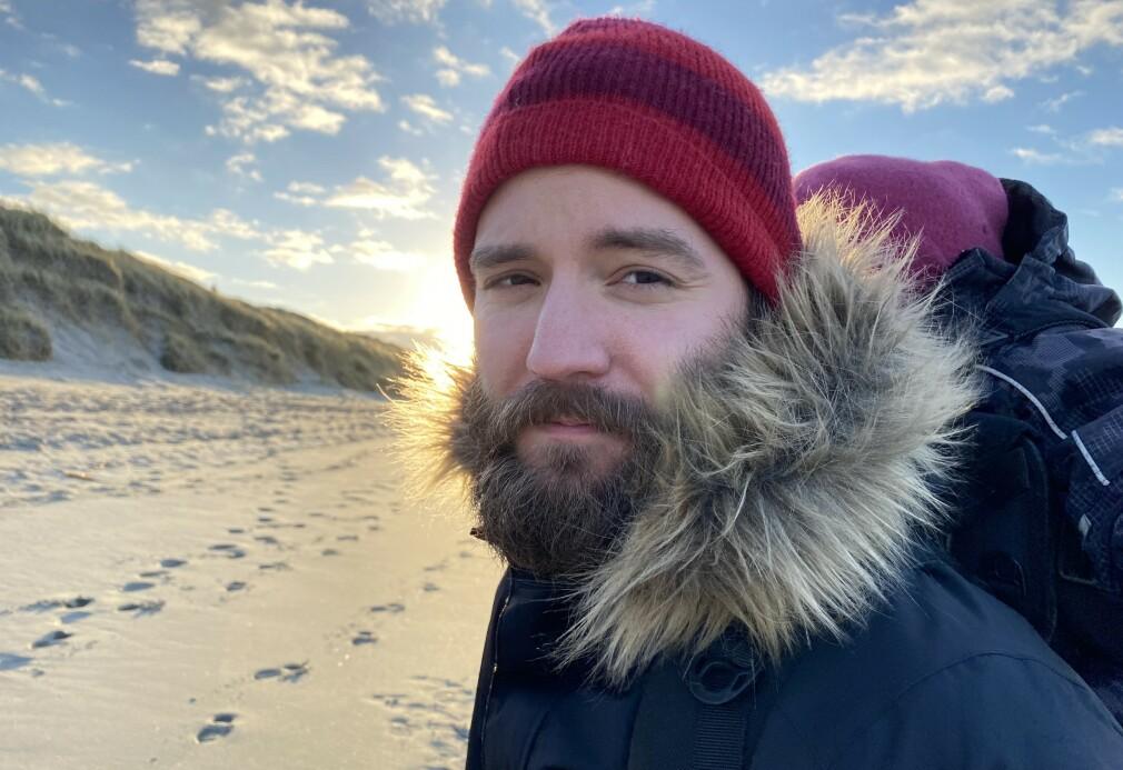 32 år gamle Mikael Åsbjørnsson-Stensland jobber som seniorkonsulent i Webstep og bygger skjermbilde-appen Screenstab på fritida. 📸: Kristine Stensland