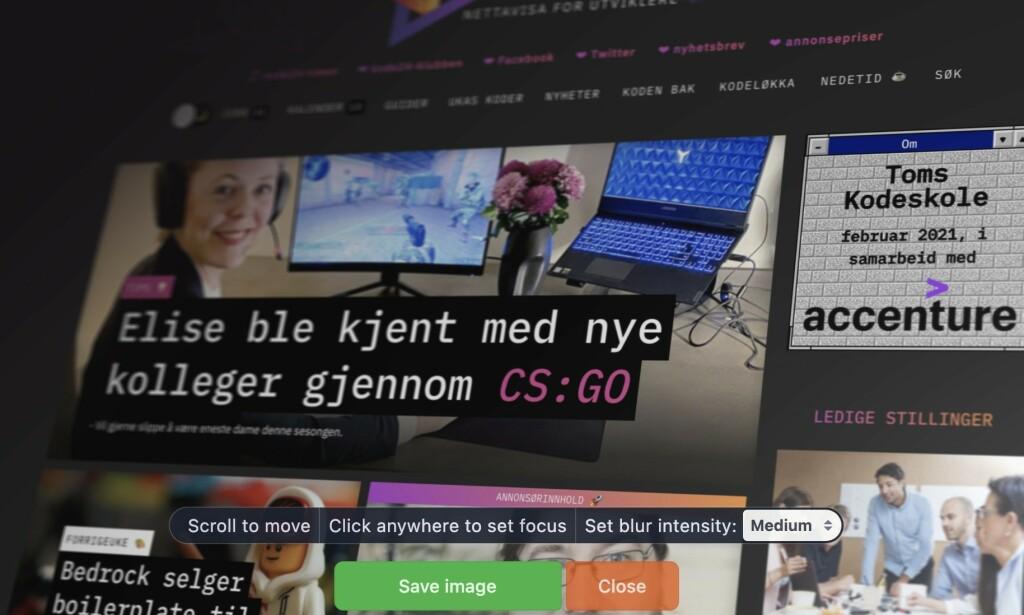 kode24 i Screenstab-drakt. 📸: skjermbilde