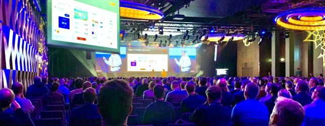 - Deling noe av det viktigste vi gjør, mener Sven Malvik i Vipps. Her fra Microsoft sitt arrangement TechX Oslo. 📸: Privat