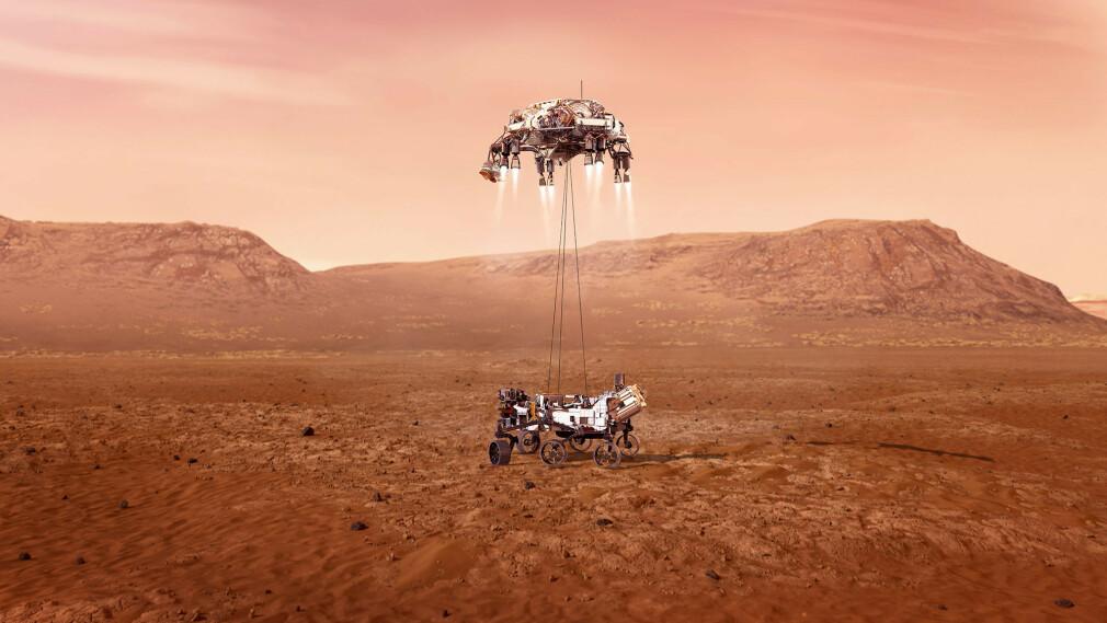 """""""Ganske kult at de lagde en real-time simulering av landingen rett i nettleseren. Den kan sees i replay, og bør sjekkes ut."""" 📸: NASA"""