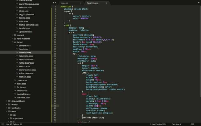 """Morten Tangerås: """"Øyeblikksbilde, Sublime... noen som vil gjette hva CSS-en i skjermbildet er ment til?"""""""