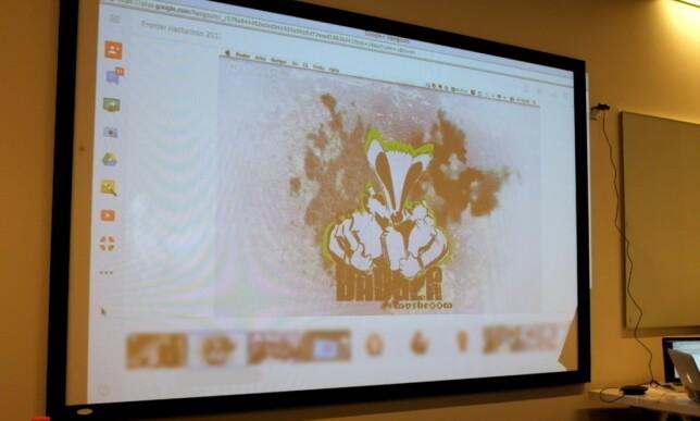 Kan et team hete Badger Mushroom? Ja, hvorfor ikke? På hackathon er alt lov! 📸: Jørgen Jacobsen