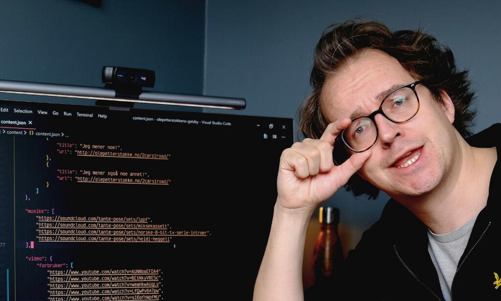 image: Jeg bruker en JSON-fil som CMS, og er nesten ikke flau over det