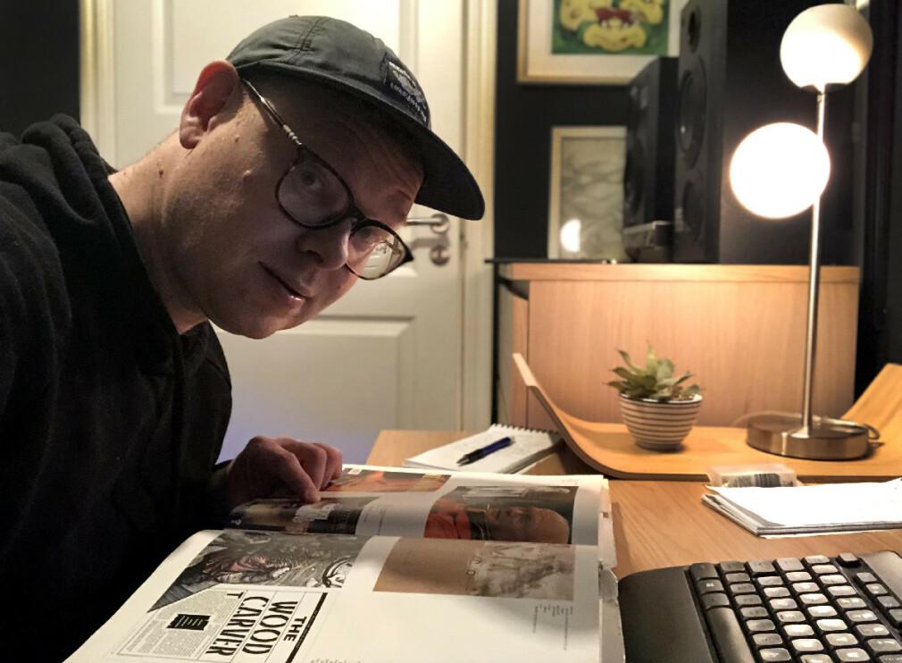 Jeg fikk aldri drømmekontoret på jobb, så jeg måtte lage et hjemme. 📸: Jørgen Jacobsen