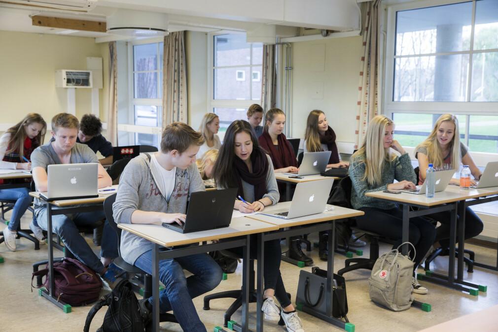 Elever på norske videregående skoler skal nå kunne ta fagbrev som utviklere. Vel og merke om noen gir dem lærlingplasser - tar du utfordringen? 📸: Berit Roald / NTB