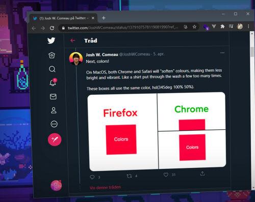 image: Visste du at Safari og Chrome gjør farger mykere?