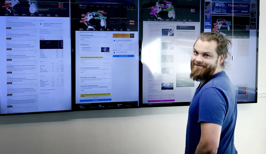 Fredrik Nøring starta og driver Norkon Computing Systems, som blant annet jobber med å levere finansdata i sanntid. 📸: Privat