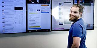 image: Tjenesten til Fredrik (31) har hundretusenvis av samtidige brukere