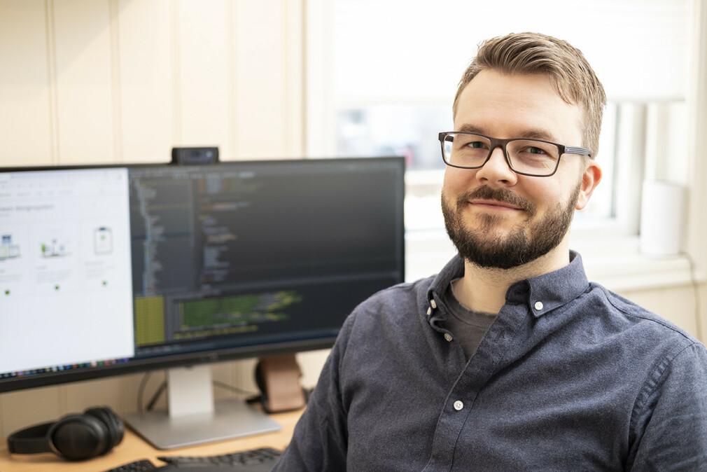 Tommy Johansen jobber for Husbanken fra hjemmekontoret, men starter snart i ny jobb hos Selvklart. 📸: Privat