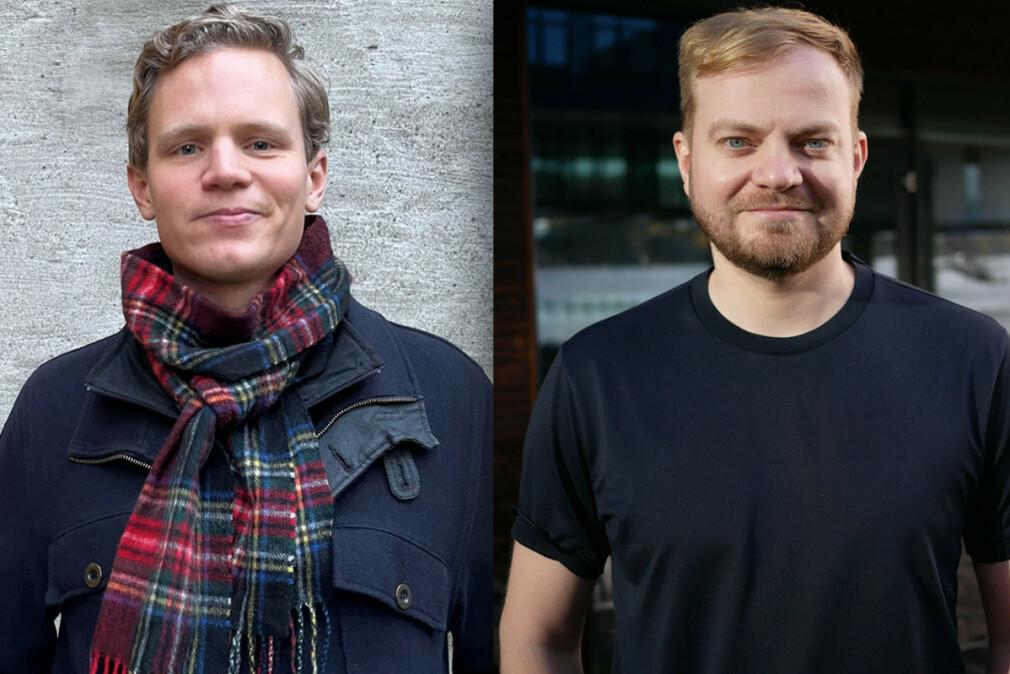 Kommunikasjonsansvarlig Are W. Sandvik og tech lead Jarand Millet i ShiftX forteller hvordan de har løst eierskapet til koden deres ansatte skriver på fritida. 📸: Privat