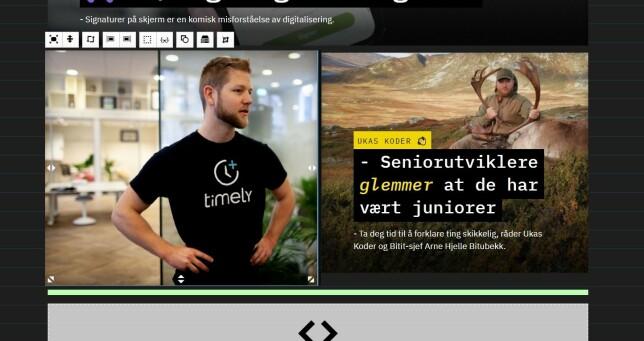 Tidligere brukte vi, slik som alle andre redaksjoner i Norge, altfor lang tid på å piksel-perfekt redigering av forsiden. 📸: Jørgen Jacobsen