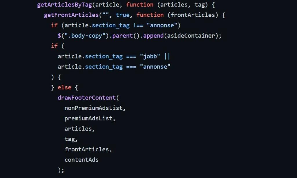 kode24-koden var tidligere stappfull av slike callbacks. 📸: Jørgen Jacobsen