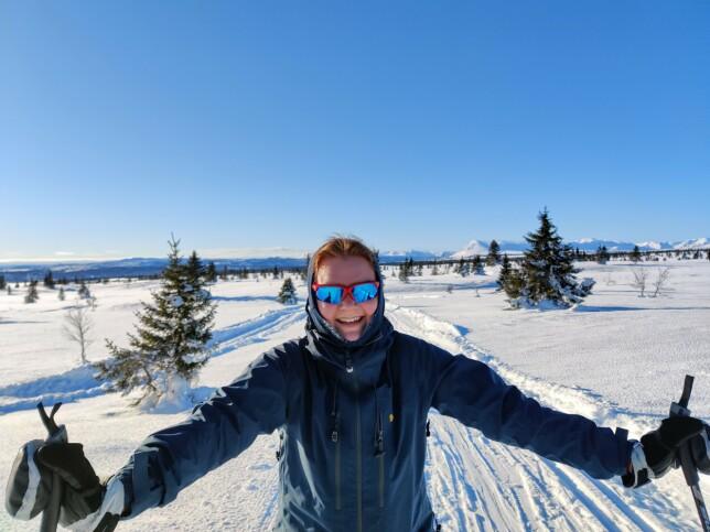 - På tur i skogen eller på fjellet, til fots eller på ski! Med gode venner og sjokolade i sekken; det er helt perfekt! forteller Ragnhild Aaraas Hånde. 📸: Privat