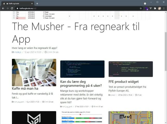 """Øistein Sørensen driver bloggen kaffeogkode.no, med slagordet """"Jeg jobber med å forenkle kode og komplisere kaffe""""."""
