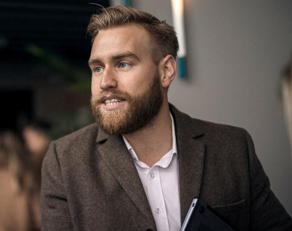 """Tollef Vollan, """"Head of Business Development"""" i Huawei CBG Norway, forteller kode24 hva som kreves for å få Android-appen sin ut på en Google-fri Huawei-telefon. 📸: Huawei"""