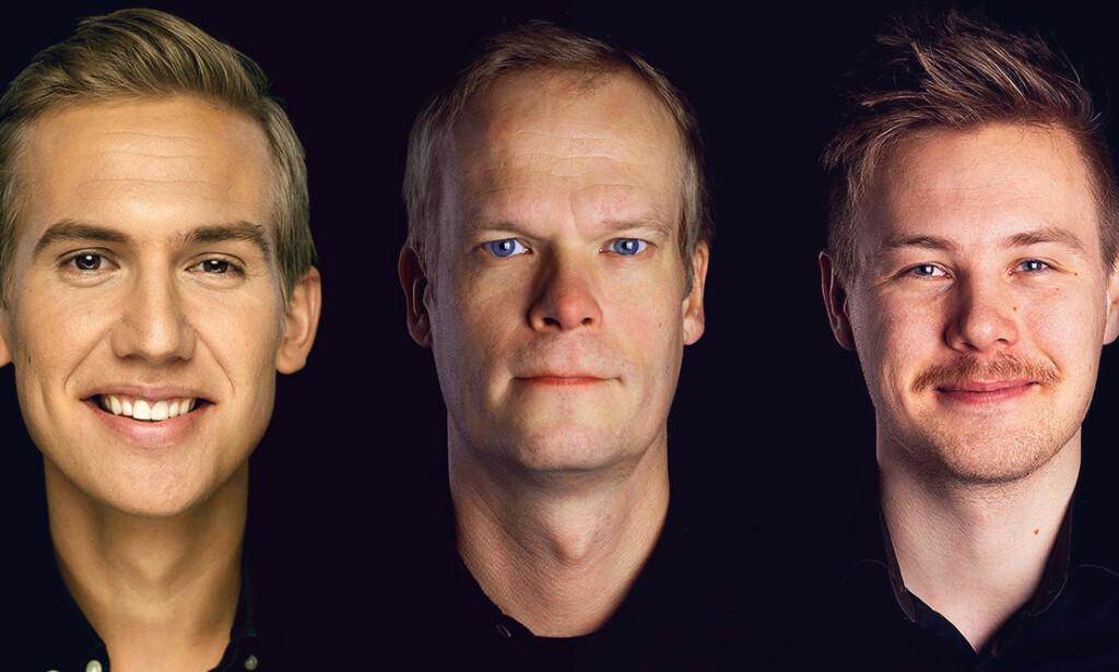 Robert Bue, Kalle Pohjapelto og Trym Søvik Lyssand i Good Morning Naug forklarer deg hvordan du kan gjenskape 3d-effekten som blant annet Facebook bruker. 📸: Privat