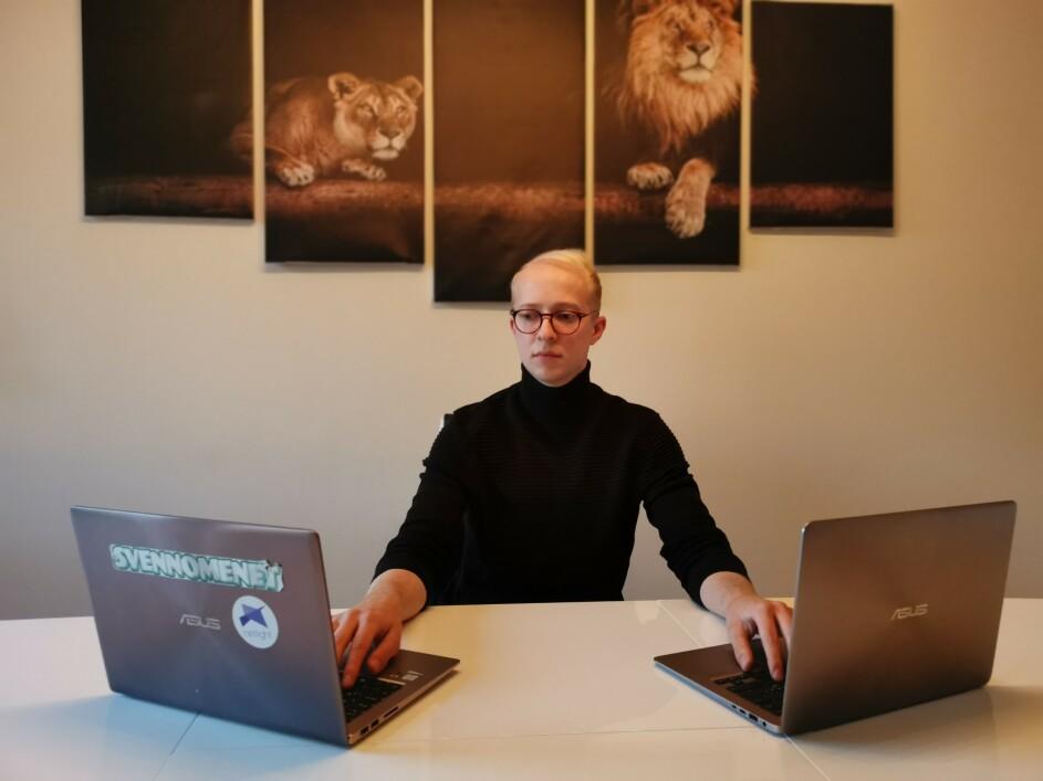 Svenn Grønbeck jobber med to mobilapplikasjoner, Gnist og Gnist Utlegg - begge er skrevet i React Native. 📸: Svenn Grønbeck