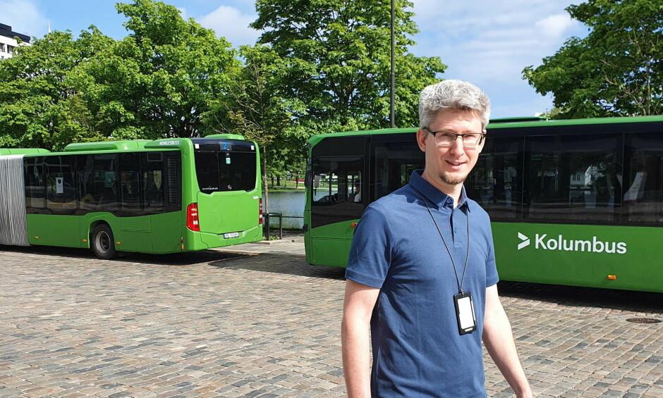 Jan Terje Egeland er innleid fra Webstep til Kolumbus hvor han arbeider på sky-infrastruktur. 📸: Privat