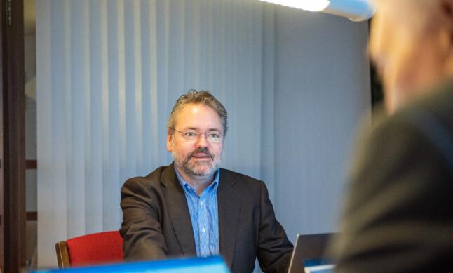 Knut Aarbakke er forhandlingssjef for fagforeningen NITO. 📸: NITO/Bjarne Krogstad
