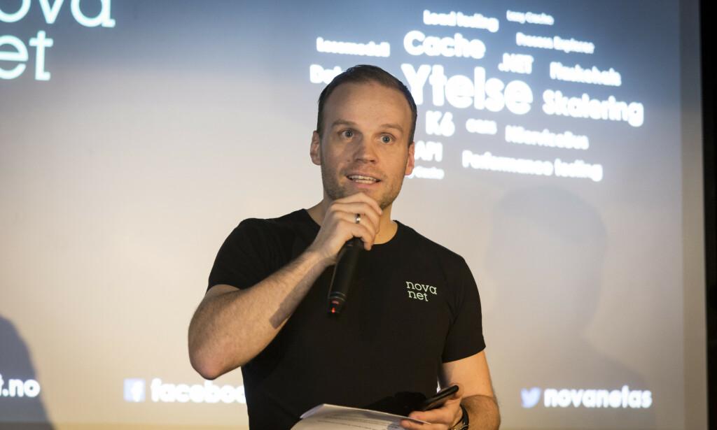 Lars Alexander Jakobsen jobber til vanlig med Azure i Novanet. 📸: Privat