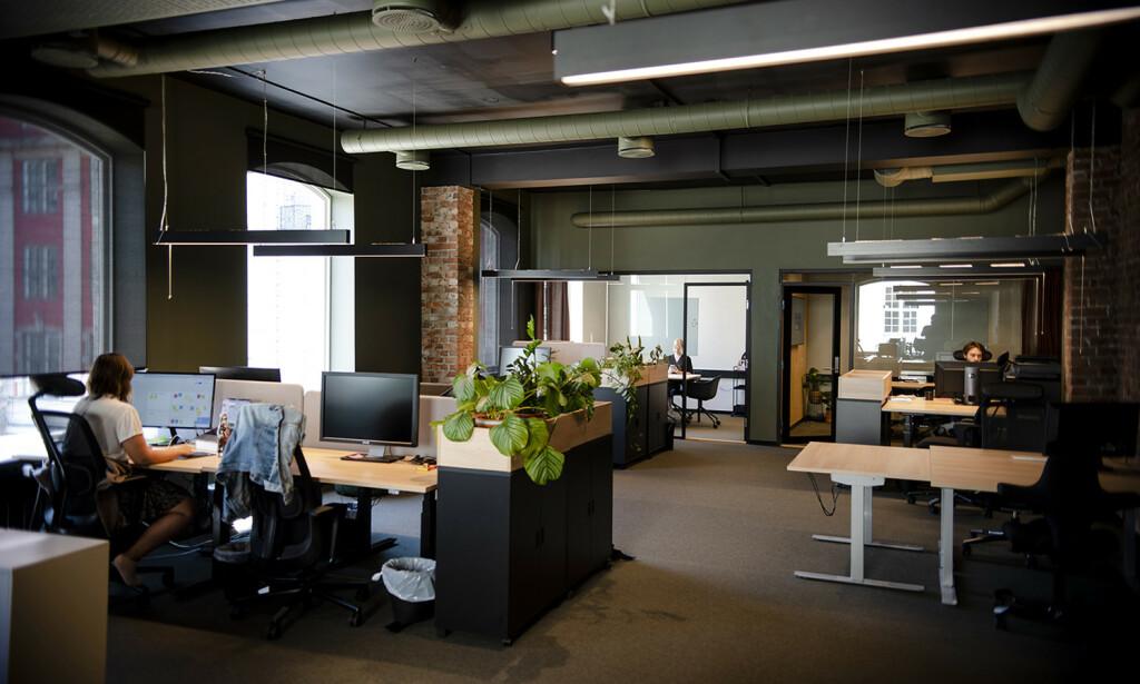 Digitalbyrået Increo håper å fylle opp det flunkende nye kontoret etter restriksjonene er over. Foto: Robert S. Eik