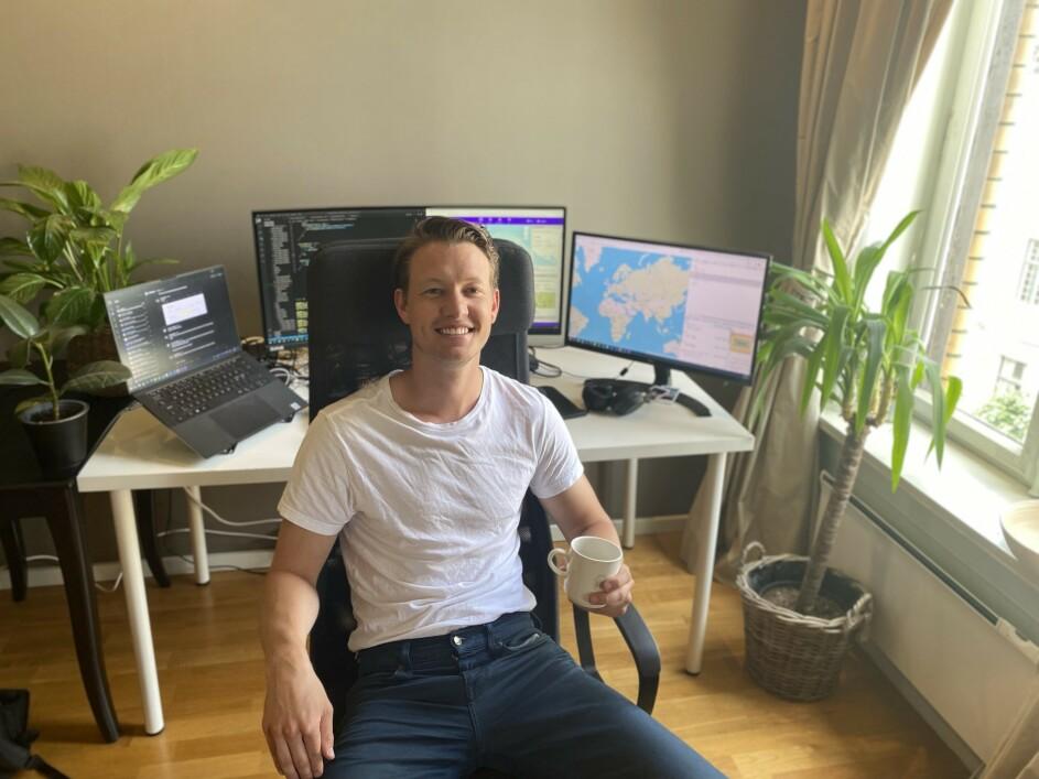 Nicolai Michelet begynte med koding på studiene allerede i 2015. 📸: Privat