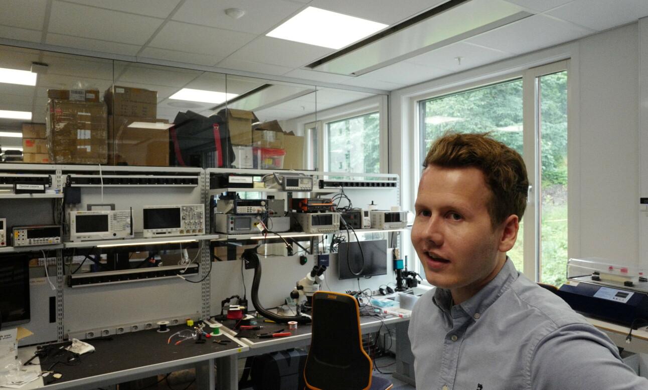 Disruptive Technology har en produsent i Tyskland, men er også selv i stand til å produsere sensorer på kontoret på Lysaker i Oslo. 📸: Isak Løve Pilskog Loe