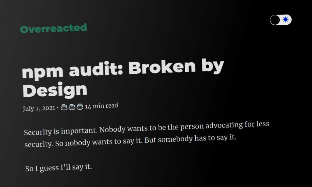 Faksimile fra React-utvikler Dan Abramovs blogg overreacted.io. 📸: Skjermbilde