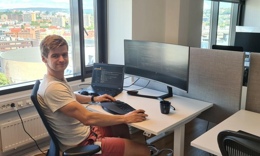 Harald Vinje er utvikler i Capra Consulting, hvor han jobber med backend, infrastruktur og sky hos Vy. 📸: Privat