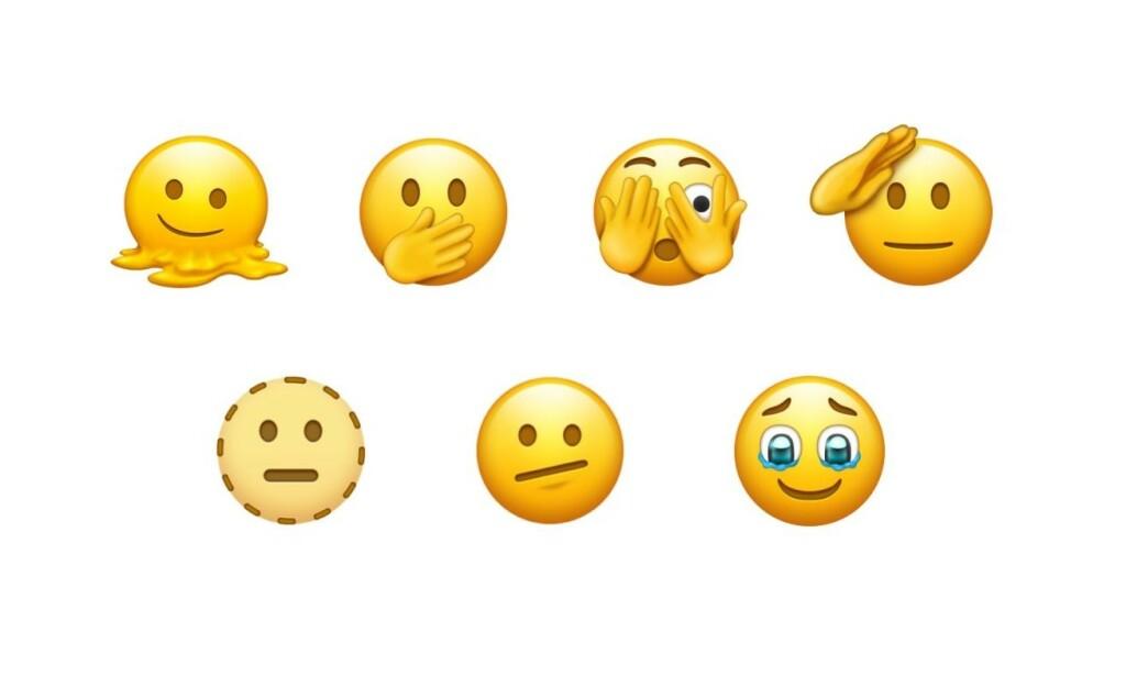 Blant forslagene finner vi disse syv luringene. 📸: Emojipedia