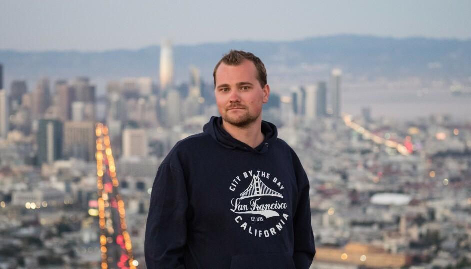 Tormund Gerhardsen i San Francisco, USA. 📸: Harald Opshaug Bakke