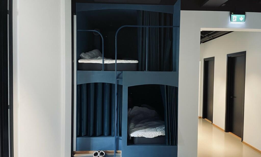 Bildet av søvnkapslene hos Fiken. 📸: Simen Schikulski