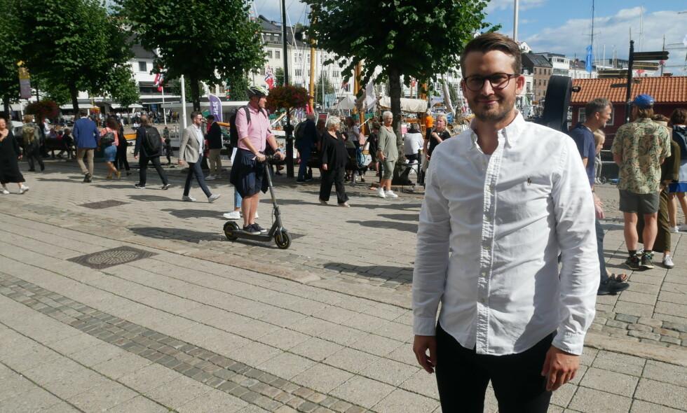 Daglig leder Nikolai Strandskogen i oppstartsselskapet ShiftX. 📸: Are Westerink Sandvik / ShiftX