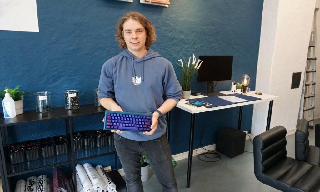 William Jarbeaux drev fra før av nettbutikkene tastatur.no og mekanisk.com, nå har han åpnet egen fysisk butikk i tillegg. 📸: Jørgen Jacobsen