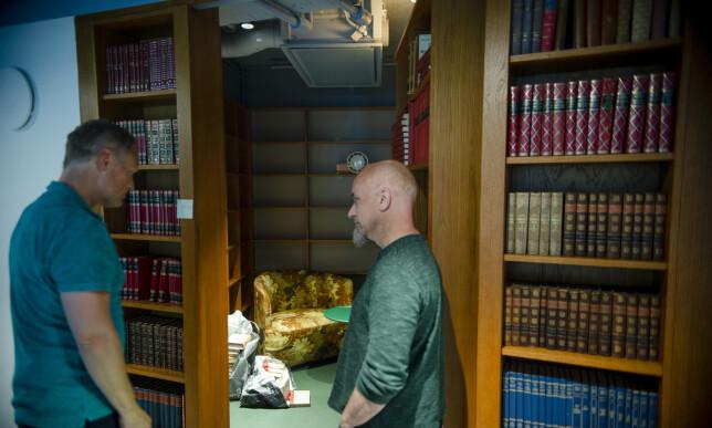 Hemmelig møterom, inspirert av Harry potter er et av flere tema-møterom som møter leietakerne. Foto: Robert S. Eik